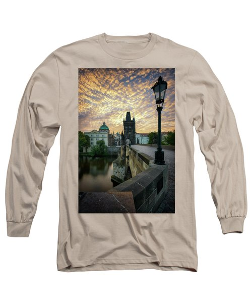 Charles Bridge, Prague, Czech Republic Long Sleeve T-Shirt