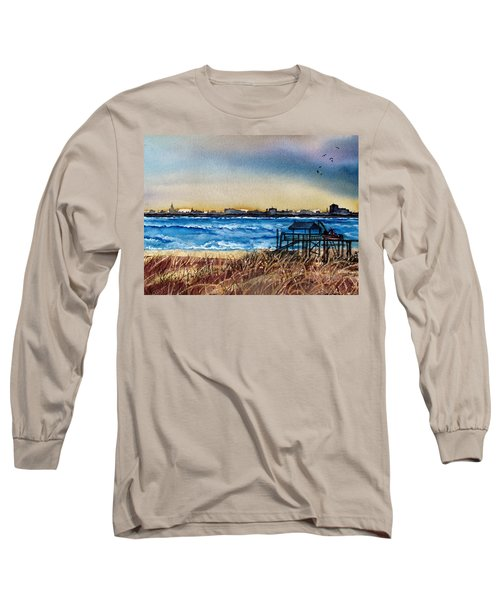 Charleston At Sunset Long Sleeve T-Shirt by Lil Taylor