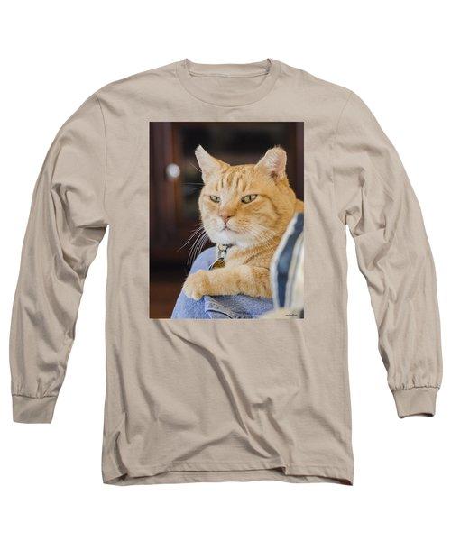 Charlie Cat Long Sleeve T-Shirt by Allen Sheffield