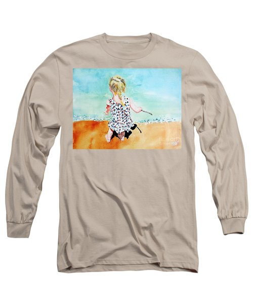 Charlotte By The Lake Long Sleeve T-Shirt by Tom Riggs
