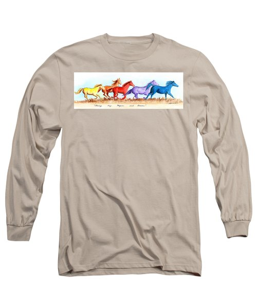 Chasing My Hopes And Dreams Long Sleeve T-Shirt by LeAnne Sowa
