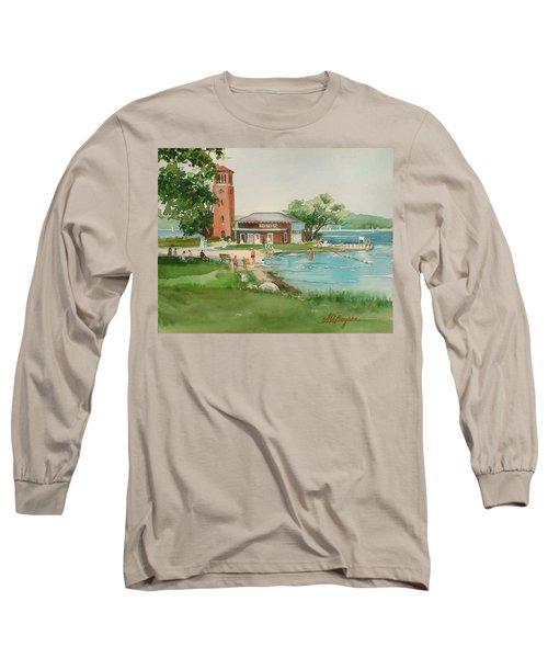 Chautauqua Bell Tower And Beach Long Sleeve T-Shirt