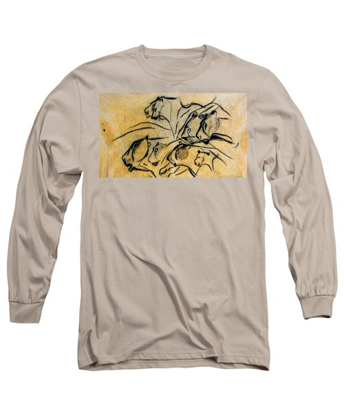 chauvet cave lions Clear Long Sleeve T-Shirt