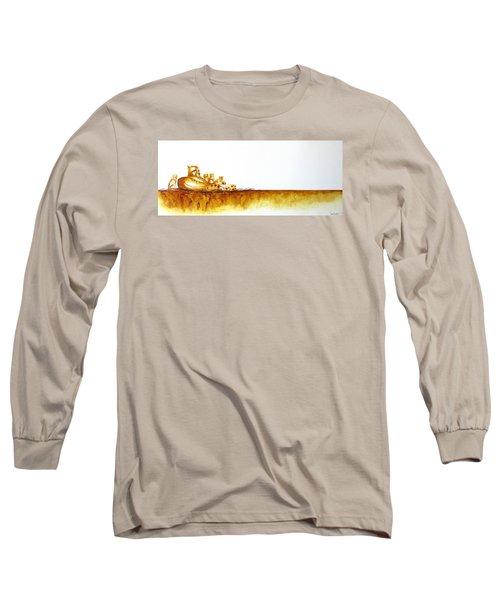 Cheetah Mum And Cubs - Original Artwork Long Sleeve T-Shirt