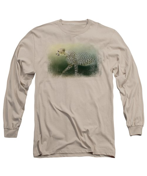 Cheetah On The Prowl Long Sleeve T-Shirt by Jai Johnson
