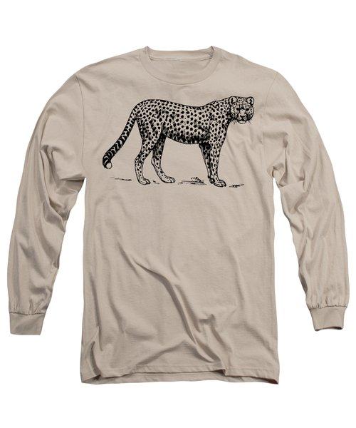 Cheetah Woods Texture Long Sleeve T-Shirt