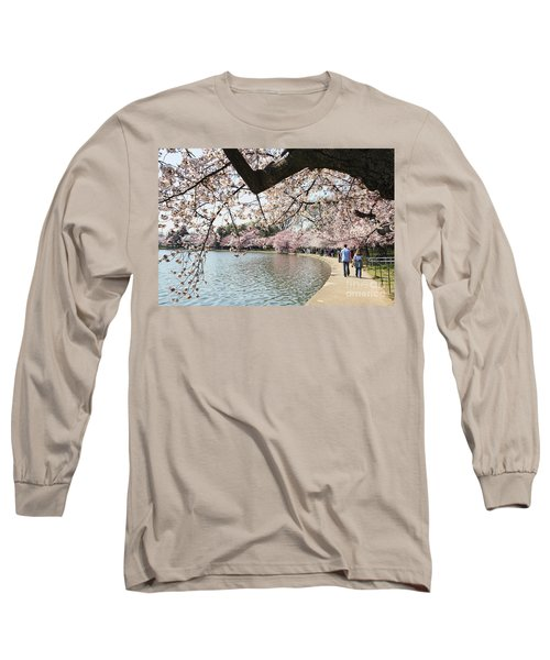 Cherry Blossom Stroll Around The Tidal Basin Long Sleeve T-Shirt