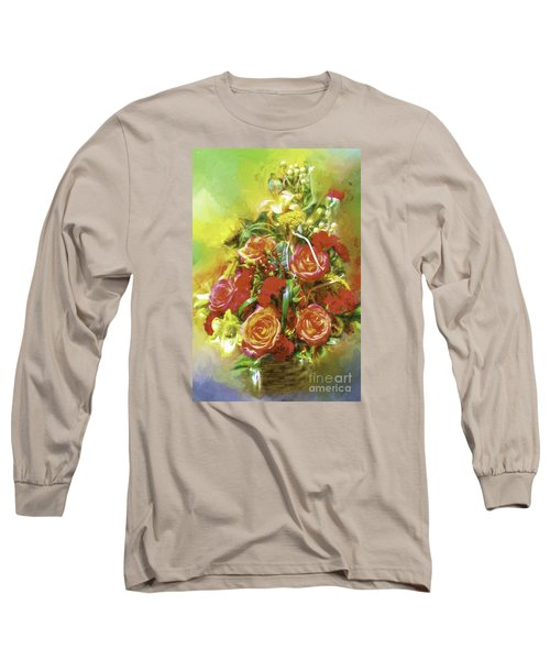 Cheryls Bouquet Long Sleeve T-Shirt by Ken Frischkorn
