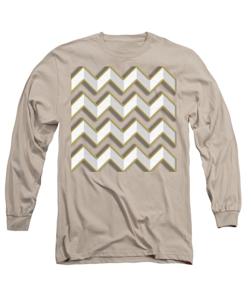 Chevrons - Gold Edges Long Sleeve T-Shirt