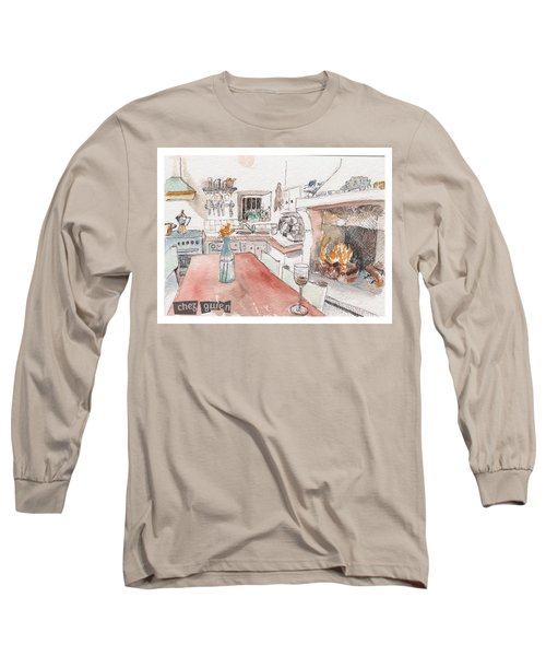 Long Sleeve T-Shirt featuring the painting Chez Gwen by Tilly Strauss