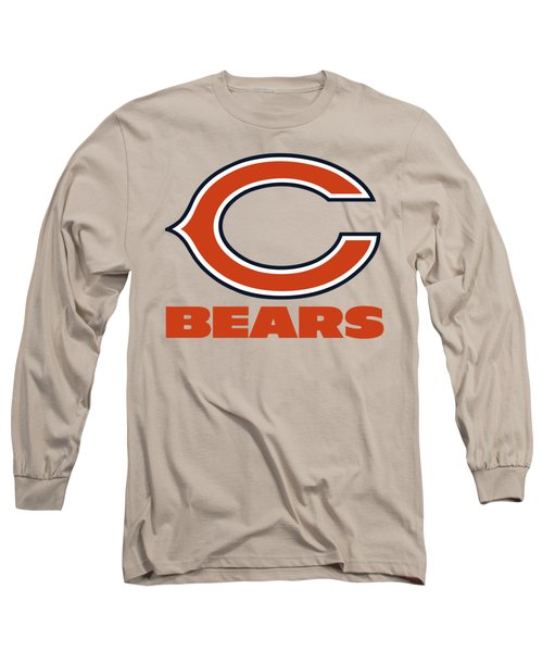 Chicago Bears On An Abraded Steel Texture Long Sleeve T-Shirt