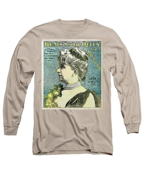 Long Sleeve T-Shirt featuring the photograph Chicago Woman Conquers New York's 400  1898 by Daniel Hagerman