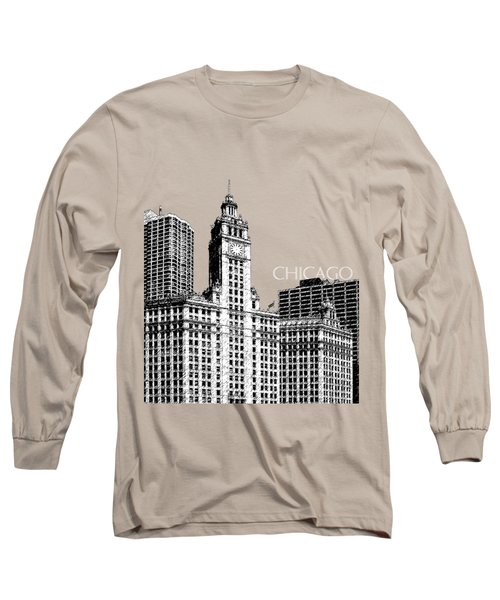 Chicago Wrigley Building - Salmon Long Sleeve T-Shirt