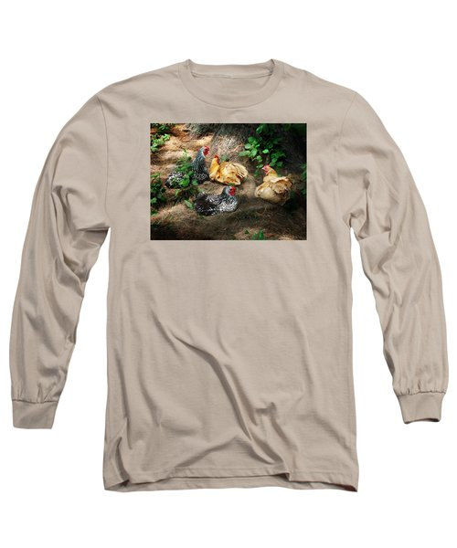 Chicken Dust Bath Party Long Sleeve T-Shirt