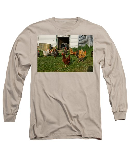 Chicken Scratch Long Sleeve T-Shirt