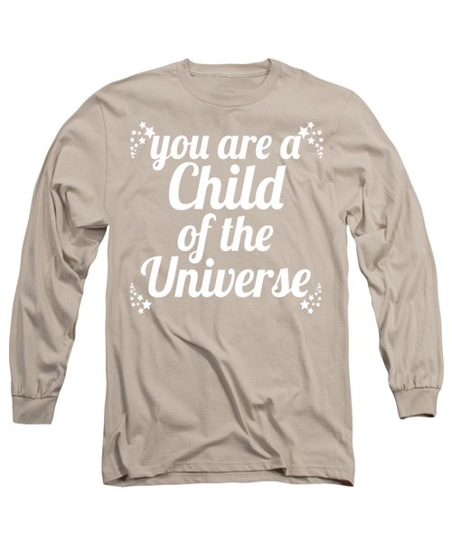 Child Of The Universe Desiderata - Pink Long Sleeve T-Shirt by Ginny Gaura