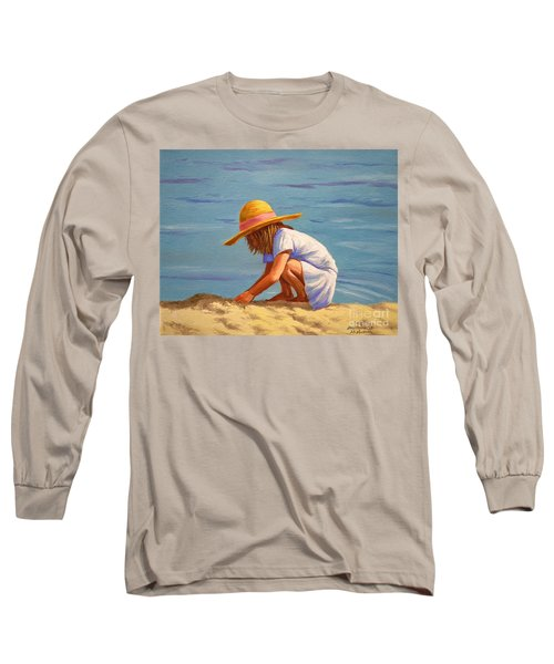 Child Playing In The Sand Long Sleeve T-Shirt