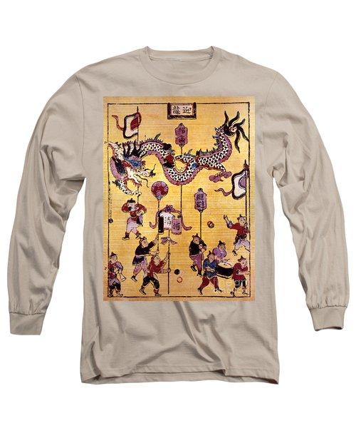 China: New Year Card Long Sleeve T-Shirt