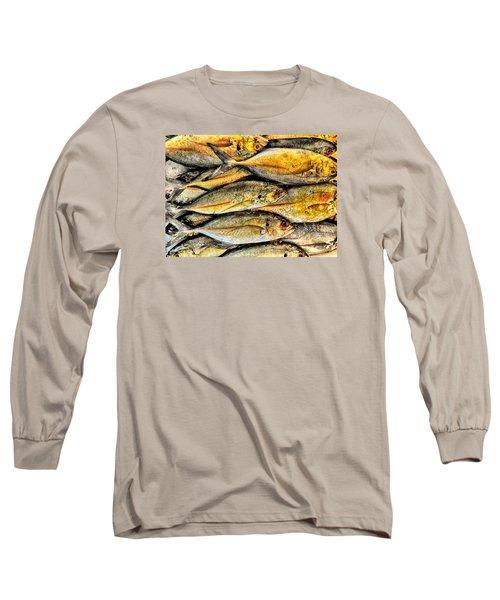 Chinatown Fish Market Nyc Long Sleeve T-Shirt by Steve Archbold