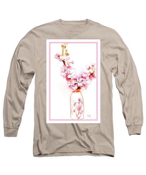 Long Sleeve T-Shirt featuring the digital art Chinese Bouquet by Marsha Heiken