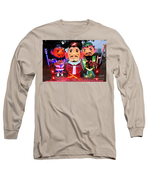 Long Sleeve T-Shirt featuring the photograph Chinese Lanterns In The Shape Of Three Wise Men by Yali Shi