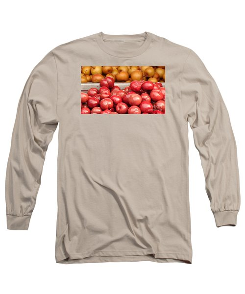 Chinese Plums And Pears Pickled In Sugar Long Sleeve T-Shirt by Yali Shi