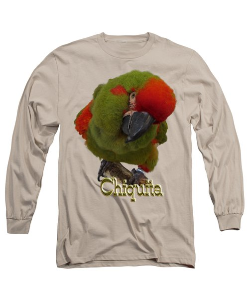 Chiquita, A Red-front Macaw Long Sleeve T-Shirt