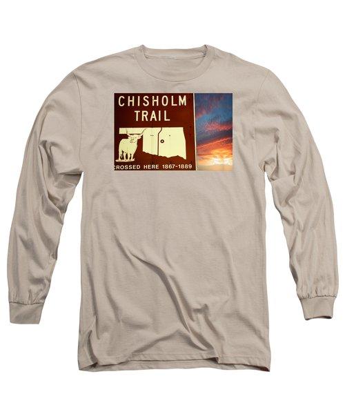 Chisholm Trail Oklahoma Long Sleeve T-Shirt by Bob Pardue