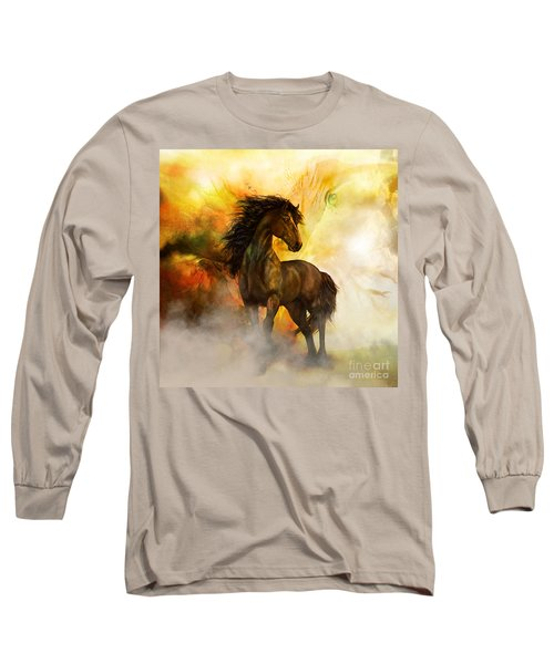 Chitto Black Spirit Horse Long Sleeve T-Shirt