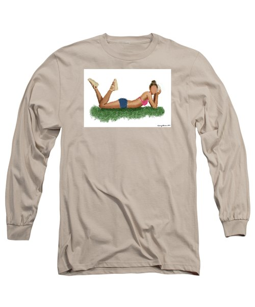 Long Sleeve T-Shirt featuring the digital art Chloe by Nancy Levan