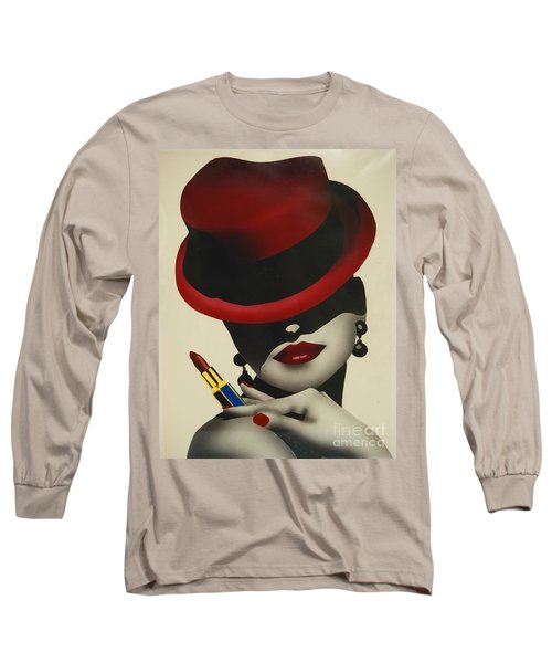 Christion Dior Red Hat Lady Long Sleeve T-Shirt by Jacqueline Athmann