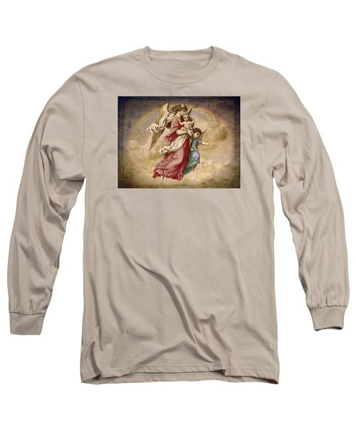 Christmas Angels And Baby Long Sleeve T-Shirt by Bellesouth Studio