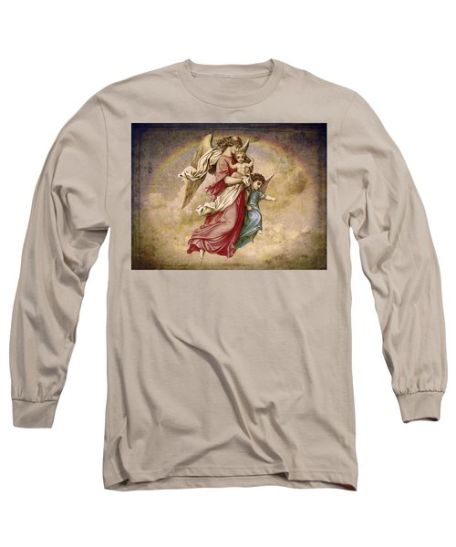 Christmas Angels And Baby Long Sleeve T-Shirt