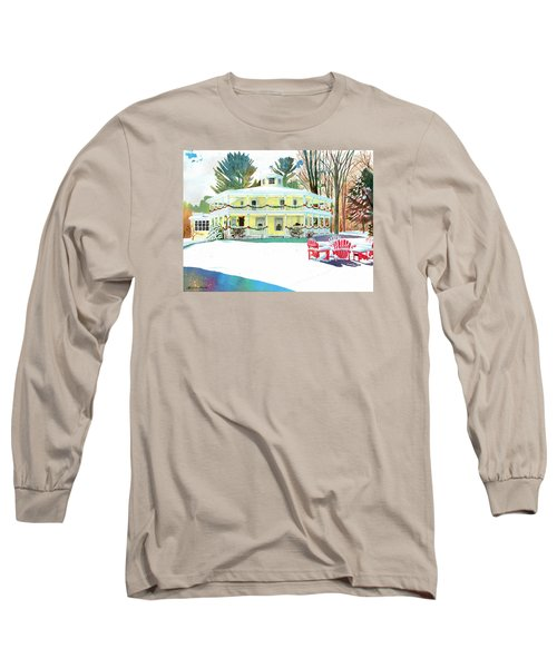 Christmas At The Hexagon House Long Sleeve T-Shirt by LeAnne Sowa