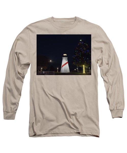 Christmas Lighthouse Long Sleeve T-Shirt