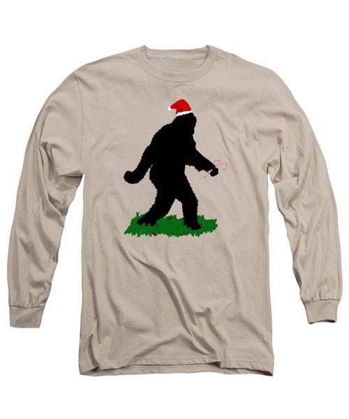 Christmas Sasquatch Long Sleeve T-Shirt