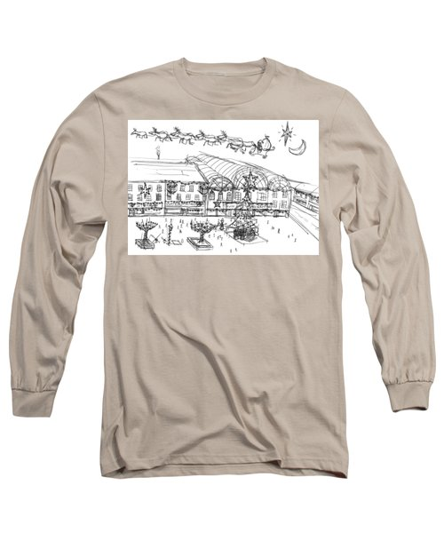 Christmas Shopping Long Sleeve T-Shirt by Artists With Autism Inc