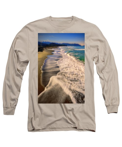 Chromatic Aberration At The Beach Long Sleeve T-Shirt