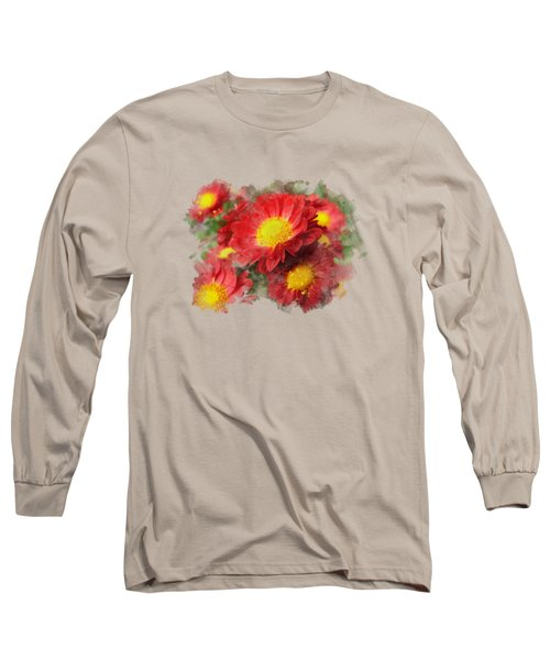 Chrysanthemum Watercolor Art Long Sleeve T-Shirt