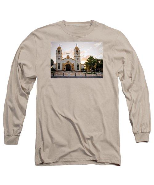 Church At Sunset Long Sleeve T-Shirt