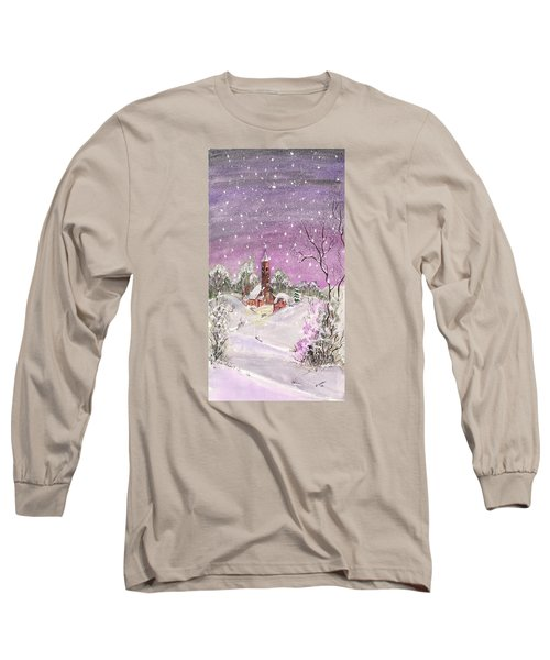 Church In The Snow Long Sleeve T-Shirt by Darren Cannell