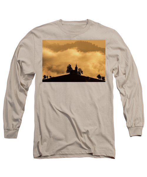 Long Sleeve T-Shirt featuring the photograph Church Of St. Thomas #2 - Slovenia by Stuart Litoff