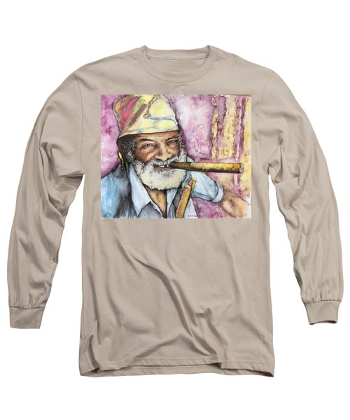 Cigars And Cuba Long Sleeve T-Shirt by Victor Minca