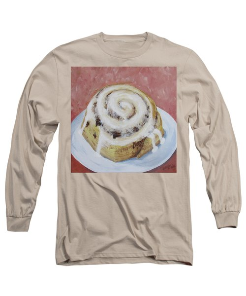 Long Sleeve T-Shirt featuring the painting Cinnamon Roll by Nancy Nale