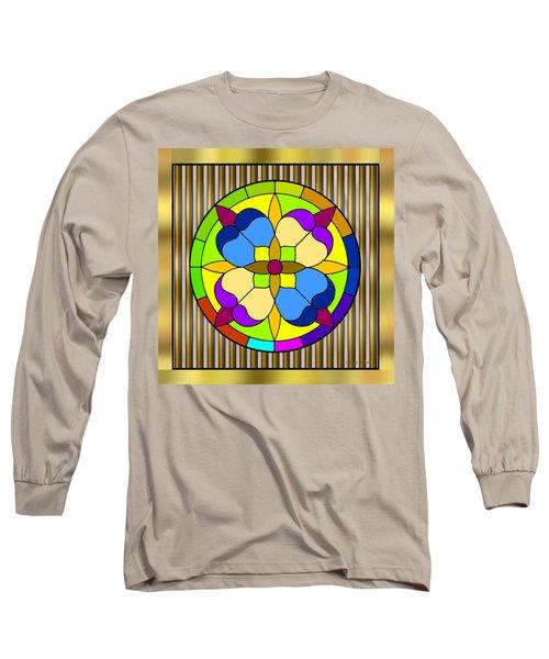 Circle On Bars 3 Long Sleeve T-Shirt by Chuck Staley