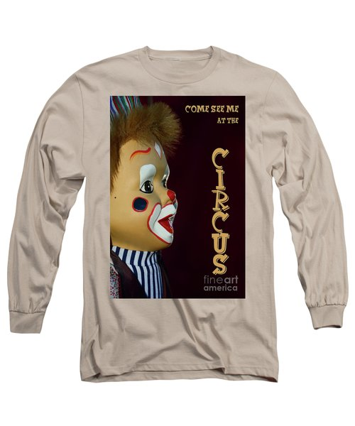 Long Sleeve T-Shirt featuring the photograph Circus Clown By Kaye Menner by Kaye Menner