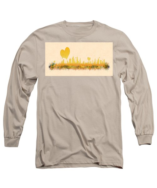 City Of Love Long Sleeve T-Shirt by Anton Kalinichev