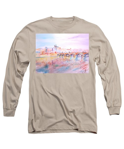 City Of Prague Long Sleeve T-Shirt by Elizabeth Lock