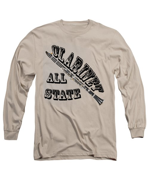Clarinet All State Long Sleeve T-Shirt by M K  Miller