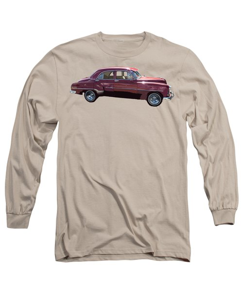 Classic Car Art In Red Long Sleeve T-Shirt